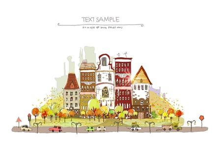 web design bridge: autumn in the old city