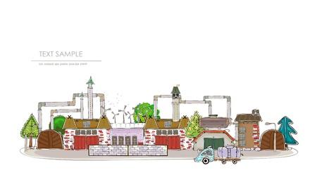 distill: industrial view  Illustration