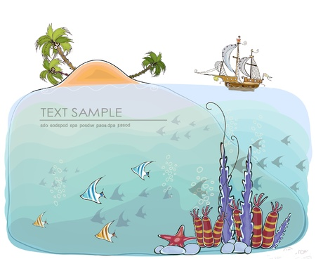 coastlines: tropical paradise background Illustration