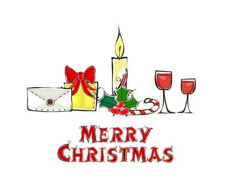 liqueur labels: Christmas background