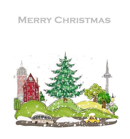Noël dans la ville Vecteurs