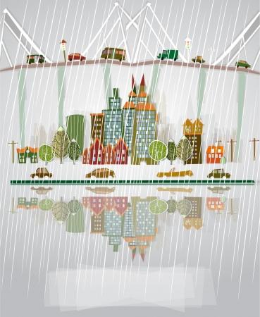 raining background: raining city background
