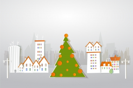 Christmas tree on the street Vector