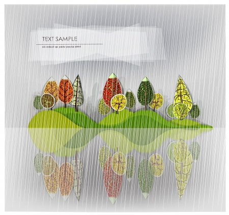 raining forest background Vector