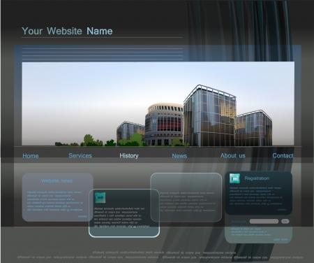 web template Stock Vector - 15340160
