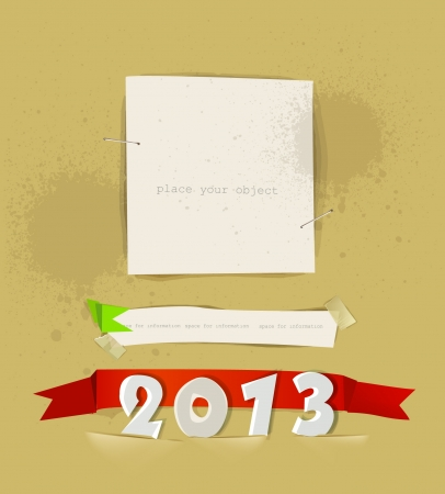 New year 2013 paper background Vector