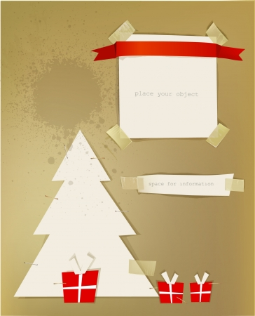Christmas paper backgrounds Stock Vector - 15529110