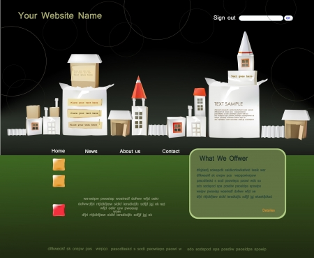 abstract city: web template
