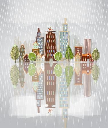 rainfall: raining city