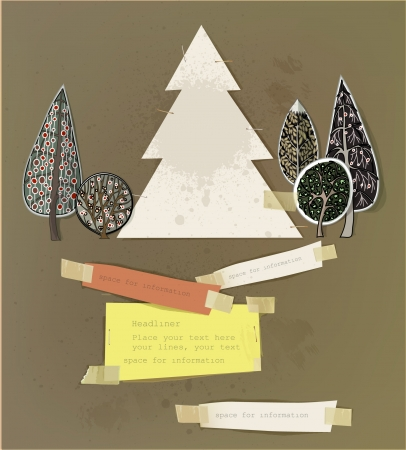 Christmas paper set  Vector