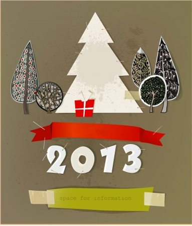 Christmas paper set Stock Vector - 15813050
