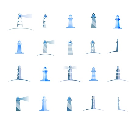 lighthouses set Vector
