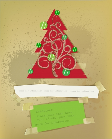 Christmas paper set Stock Vector - 15813047
