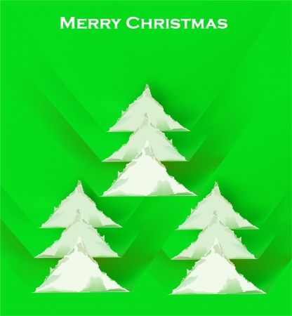 ripped paper Christmas tree background Stock Vector - 16252047