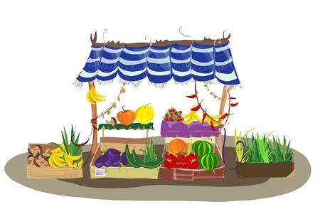 Frutas y verduras tienda