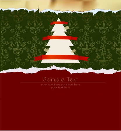Christmas ripped  paper set  Vector