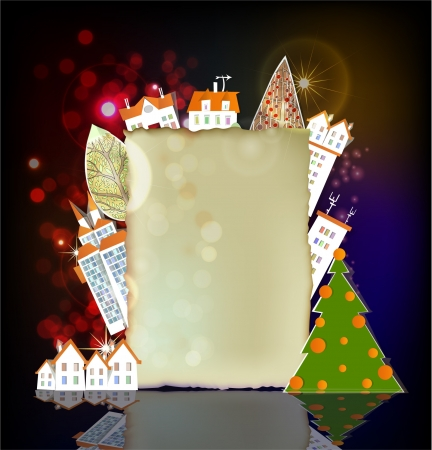 Christmas City background Stock Vector - 16493445