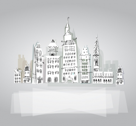 panoramic business: City background Illustration