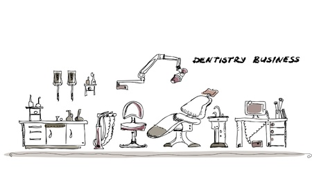 sillon dental: Dantist habitaci�n Vectores