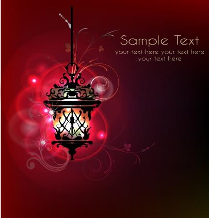 islamic ramadan: banckground with lantern