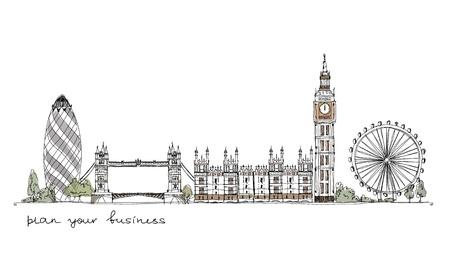 london: Londen achtergrond Stock Illustratie