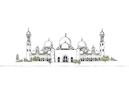 Mosgue  arab emirates  Illustration