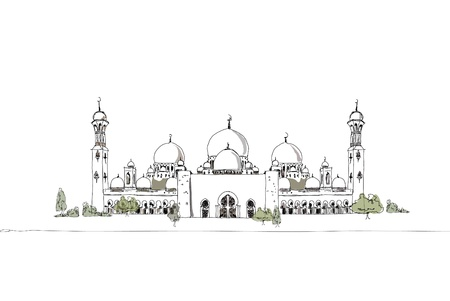 prayer tower: Mosgue arabi uniti Vettoriali