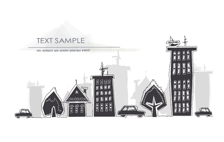 abstract city view Stock Vector - 18734709