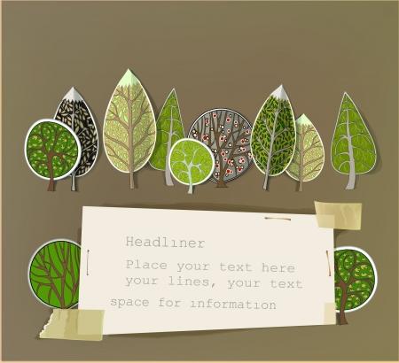 Résumé fond de la forêt