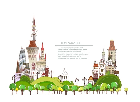 redesign: city background Illustration
