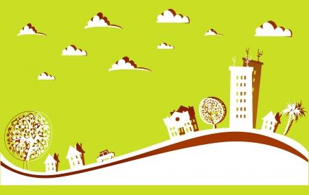 urban environment: city background Illustration