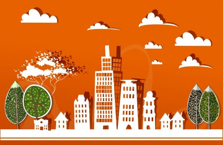 city background Stock Vector - 22490975