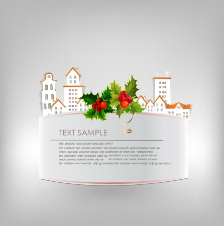 Christmas city background Stock Vector - 22749331