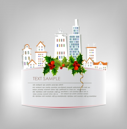Christmas im the City background Vector