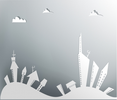 building lot: City background Illustration