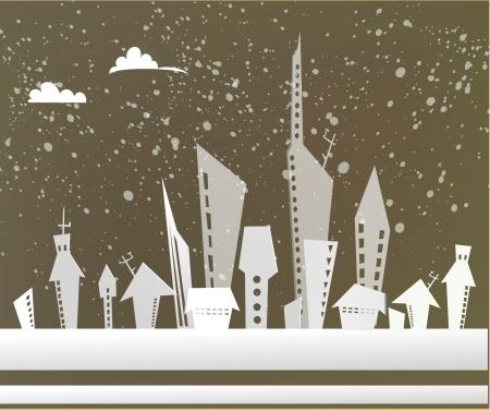 housing lot: City background Illustration
