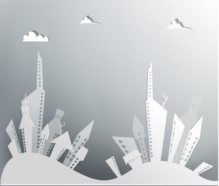 City background Stock Vector - 23195245