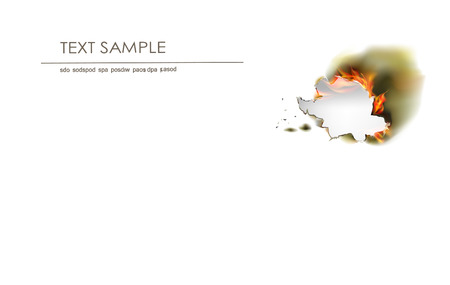 ripped paper background: Ripped paper background and flame Illustration