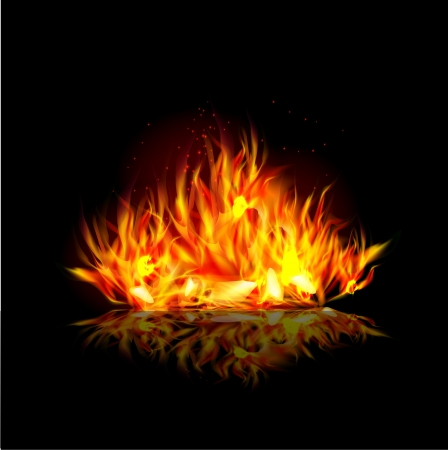 Fire background Stock Vector - 24527668