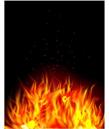 blast: Fire background Illustration