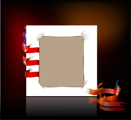 paper background and flame Vector
