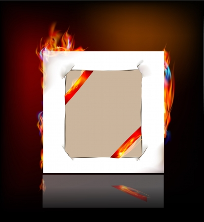 paper background and flame Stock Vector - 24974889