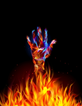 flamboyant: Fire collection  Hand Raised up Illustration
