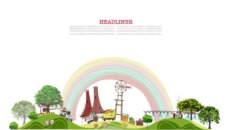 Farm illustration Vector