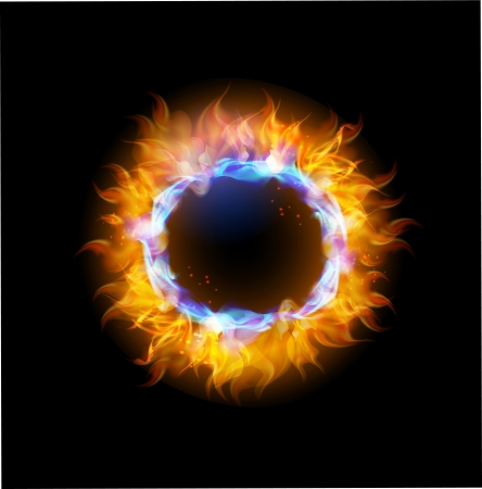 Fire collection abstract background