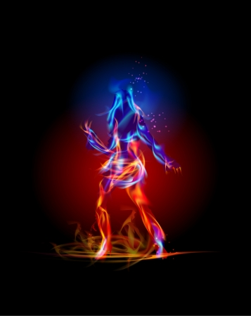 Fire collection Dancing girl