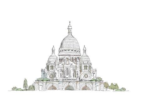 sacre coeur: Sacré Coeur, Paris Illustration