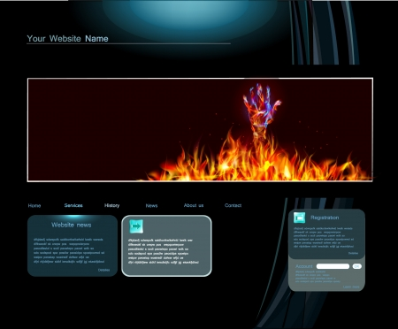 hot line: web page template Illustration