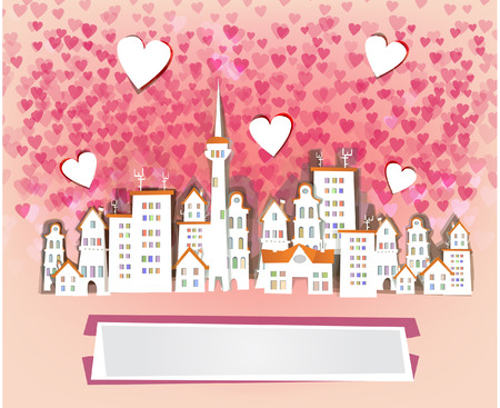 Happy Valentine background Vector