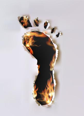 foot print: impression collecte de papier de pied arrach�